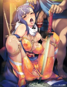 Rating: Explicit Score: 80 Tags: anus bondage cameltoe censored cum erect_nipples fishnets ninja oshare_kyoushitsu penis sword torn_clothes User: demonbane1349