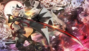 Rating: Questionable Score: 35 Tags: armor fate/grand_order khanshin majin_saber no_bra sword thighhighs User: Nepcoheart