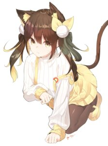 Rating: Safe Score: 40 Tags: animal_ears nekomimi pantyhose se.a sweater tail User: BattlequeenYume