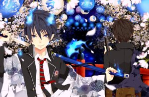 Rating: Safe Score: 9 Tags: ao_no_exorcist male okumura_rin okumura_yukio sword utaoka_(23com) User: Nekotsúh
