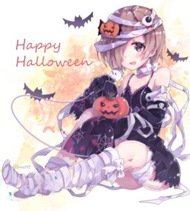 Rating: Safe Score: 55 Tags: bandages cleavage dress halloween kyou_hotaru shirasaka_koume the_idolm@ster the_idolm@ster_cinderella_girls User: Mr_GT