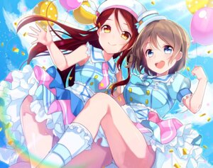 Rating: Questionable Score: 24 Tags: goroo_(eneosu) love_live!_sunshine!! pantsu sakurauchi_riko skirt_lift watanabe_you User: saemonnokami