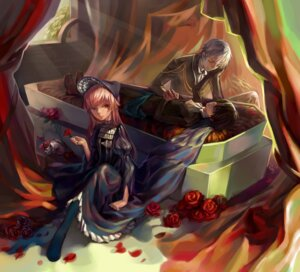Rating: Safe Score: 9 Tags: akise_aru amano_yukiteru dress gasai_yuno h.ugo mirai_nikki User: charunetra