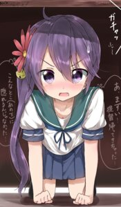 Rating: Safe Score: 68 Tags: akebono_(kancolle) kantai_collection pentagon_(railgun_ky1206) seifuku User: Mr_GT