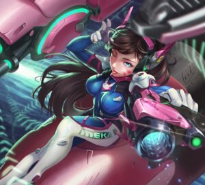 Rating: Safe Score: 35 Tags: bodysuit d.va gun headphones leal666 mecha overwatch signed User: mash