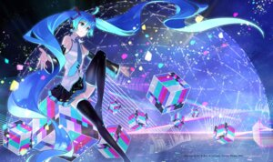 Rating: Safe Score: 48 Tags: hatsune_miku osamu thighhighs vocaloid User: nphuongsun93