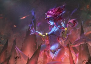 Rating: Safe Score: 9 Tags: armor balagao bikini_top cleavage evelynn league_of_legends pointy_ears signed stockings thighhighs underboob User: mattiasc02