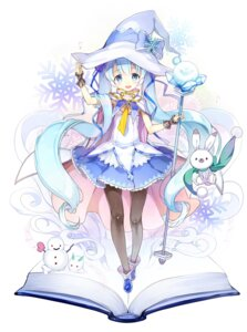 Rating: Safe Score: 51 Tags: cocorip hatsune_miku pantyhose vocaloid weapon witch yuki_miku User: Mr_GT