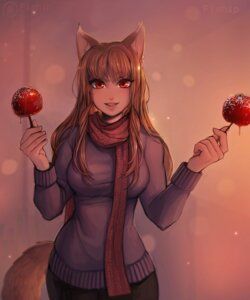 Rating: Safe Score: 5 Tags: animal_ears holo spice_and_wolf sweater tagme tail User: dick_dickinson