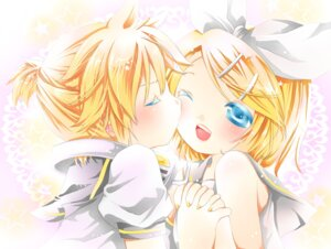 Rating: Safe Score: 11 Tags: hachimitsu_(127032) kagamine_len kagamine_rin vocaloid User: vanilla
