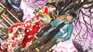 Rating: Safe Score: 7 Tags: detective_conan hattori_heiji kimono swordsouls tooyama_kazuha wallpaper User: Mr_GT