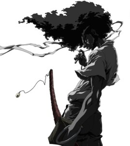 Rating: Safe Score: 9 Tags: afro_samurai male monochrome sword User: charunetra