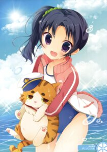 Rating: Safe Score: 48 Tags: high_school_fleet isoroku neko picpicgram school_swimsuit swimsuits wazumi_hime wet User: Twinsenzw