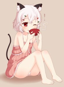 Rating: Questionable Score: 62 Tags: animal_ears loli muku-coffee nekomimi pantsu tail User: Radioactive
