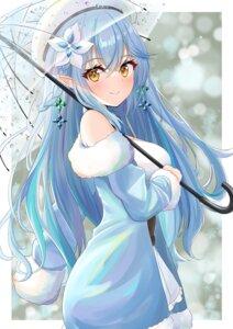 Rating: Safe Score: 5 Tags: hololive onabe_no_shime pointy_ears umbrella wet yukihana_lamy User: whitespace1