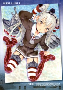 Rating: Questionable Score: 22 Tags: amatsukaze_(kancolle) kantai_collection stockings thighhighs yug User: drop