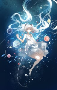 Rating: Safe Score: 46 Tags: cui_(jidanhaidaitang) dress hatsune_miku summer_dress vocaloid User: Mr_GT