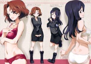 Rating: Questionable Score: 68 Tags: ass azumi_(girls_und_panzer) bra cleavage girls_und_panzer kurashima_tomoyasu megumi_(girls_und_panzer) pantsu uniform User: drop