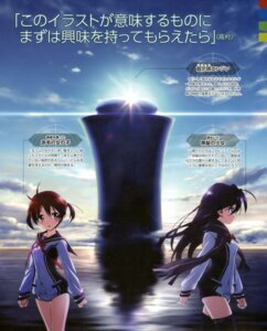 Rating: Questionable Score: 24 Tags: buruma isshiki_akane kuroki_rei seifuku vividred_operation User: dansetone
