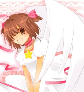 Rating: Safe Score: 10 Tags: card_captor_sakura hanasaka_nico kinomoto_sakura wings User: Radioactive