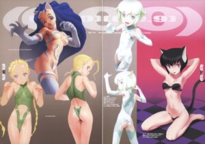 Rating: Questionable Score: 3 Tags: animal_ears ass bikini_top bodysuit bottomless cammy_white dark_stalkers felicia gap garter maebari nekomimi no_bra nopan street_fighter tagme tail thighhighs User: Radioactive