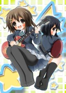 Rating: Safe Score: 3 Tags: guitar hirasawa_yui k-on! kyohei nakano_azusa pantyhose seifuku User: blooregardo