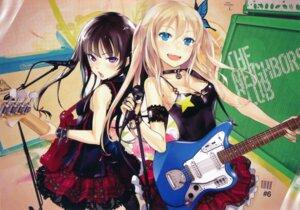 Rating: Safe Score: 70 Tags: boku_wa_tomodachi_ga_sukunai cleavage guitar kashiwazaki_sena mikazuki_yozora redjuice User: fireattack