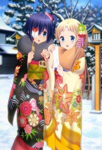 Rating: Safe Score: 75 Tags: chuunibyou_demo_koi_ga_shitai! dekomori_sanae eyepatch ikeda_kazumi kimono takanashi_rikka User: drop