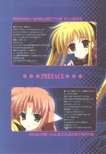 Rating: Safe Score: 5 Tags: arf fate_testarossa mahou_shoujo_lyrical_nanoha naruse_mamoru the_flyers wireframe yuuki_hagure User: fireattack