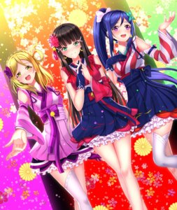 Rating: Safe Score: 28 Tags: kurosawa_dia lolita_fashion love_live!_sunshine!! matsuura_kanan ohara_mari swordsouls thighhighs wa_lolita User: Mr_GT