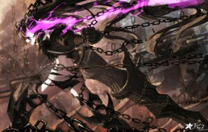Rating: Safe Score: 39 Tags: armor black_rock_shooter black_rock_shooter_(character) insane_black_rock_shooter sen_ya signed sword User: RyuZU
