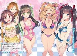 Rating: Safe Score: 61 Tags: aramiya_kiyomi ayame_kotoko bikini chuuko_demo_koi_ga_shitai! cleavage hatsushiba_yuuka redrop saitani_ryouma suwama_eve swimsuits User: kiyoe