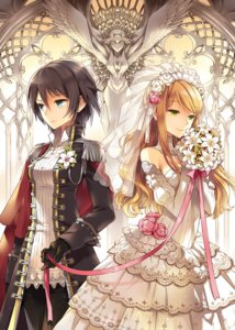 Rating: Safe Score: 112 Tags: dress nardack uniform wedding_dress wings User: blooregardo