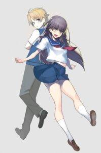 Rating: Safe Score: 13 Tags: haruchika homura_chika kamijou_haruta seifuku User: saemonnokami