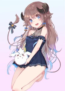 Rating: Safe Score: 25 Tags: animal_ears dress horns nanase_subaru_(channel) nanase_subaru_(virtual_youtuber) oota_youjo see_through tail User: KazukiNanako