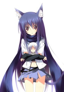 Rating: Safe Score: 55 Tags: angel_beats! animal_ears chibi kuwashima_rein nekomimi shiina tail tenshi User: Radioactive