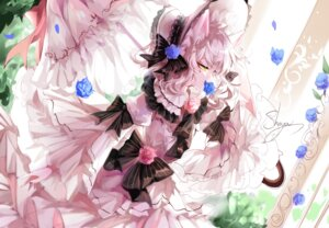 Rating: Safe Score: 10 Tags: animal_ears dress lolita_fashion nekomimi sheya umbrella User: charunetra