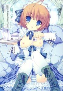 Rating: Questionable Score: 69 Tags: breasts cream maid nipples no_bra pantsu shimapan shimesaba_kohada thighhighs User: crim