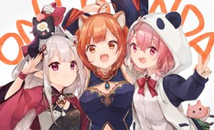 Rating: Safe Score: 20 Tags: animal_ears asian_clothes cleavage nijisanji pointy_ears ratna_petit sasaki_saku seifuku ukishizumi User: Mr_GT