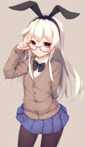 Rating: Safe Score: 83 Tags: kantai_collection kato_roku megane pantyhose seifuku shimakaze_(kancolle) sweater User: Mr_GT