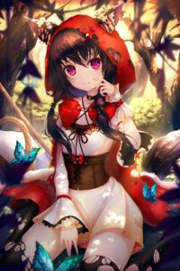 Rating: Safe Score: 82 Tags: animal_ears dress h2o_(dfo) little_red_riding_hood_(character) tail thighhighs torn_clothes User: Mr_GT