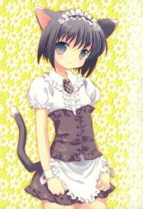 Rating: Safe Score: 37 Tags: animal_ears hakkaya maid nekomimi tail tokumi_yuiko User: petopeto