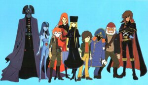 Rating: Safe Score: 3 Tags: claire_(galaxy_express) conductor emeraldas galaxy_express_999 harlock hoshino_tetsuro maetel User: Radioactive
