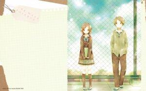 Rating: Safe Score: 38 Tags: fujimiya_kaori hase_yuuki hazuki_matcha isshuukan_friends seifuku wallpaper User: alice4