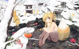 Rating: Questionable Score: 75 Tags: animal_ears kitsune naked onsen pashikiso tail wallpaper User: 椎名深夏