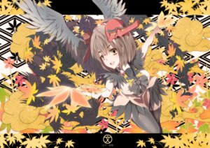 Rating: Safe Score: 7 Tags: meron_to_maria shameimaru_aya thighhighs touhou wings User: eridani