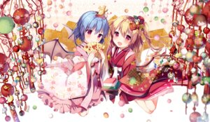 Rating: Safe Score: 53 Tags: flandre_scarlet japanese_clothes morinaga_kobato remilia_scarlet touhou wings User: Mr_GT