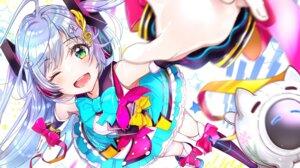 Rating: Safe Score: 30 Tags: hatsune_miku headphones keepout magical_mirai thighhighs vocaloid User: Dreista