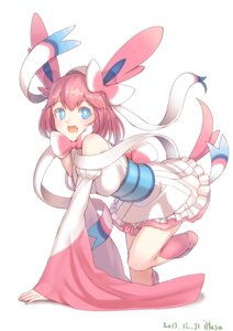 Rating: Safe Score: 51 Tags: anthropomorphization iltusa ninfia pokemon sylveon User: syuki144