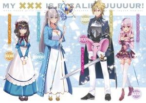 Rating: Safe Score: 12 Tags: armor cleavage dress heels jiiwara maid ore_no_kokan_ga_excalibur! pointy_ears stockings sword thighhighs weapon User: kiyoe